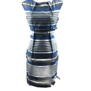 Calvin Klein dress size 4 blue grey white